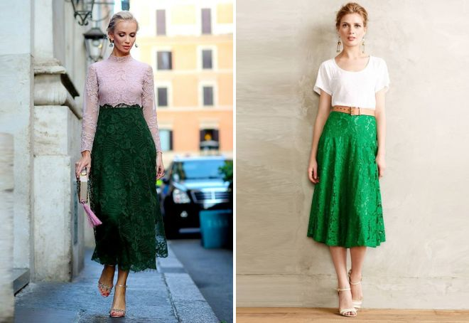 зеленая юбка солнце