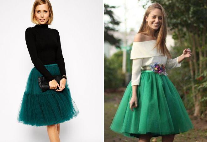зеленая юбка туту