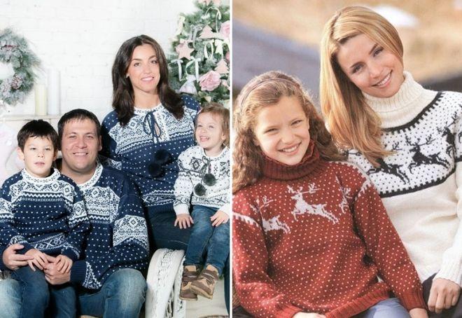 Женский свитер с оленями 13