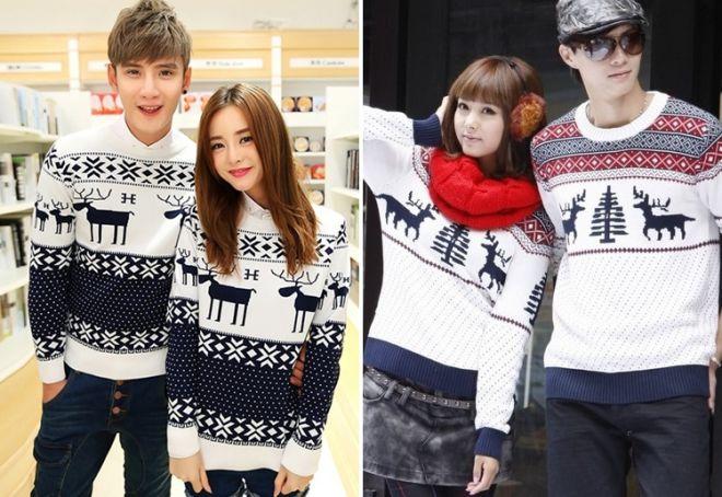 Женский свитер с оленями 16