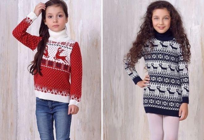 Женский свитер с оленями 17
