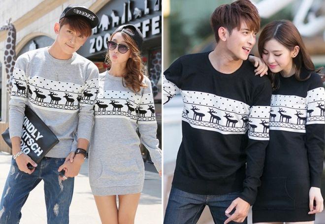 Женский свитер с оленями 20