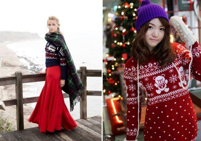 женский свитер с оленями 3
