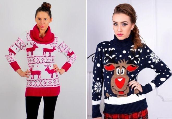 женский свитер с оленями 4