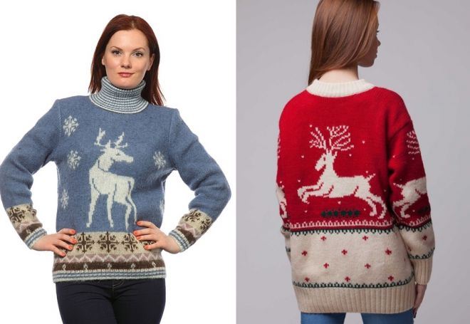 женский свитер с оленями 5
