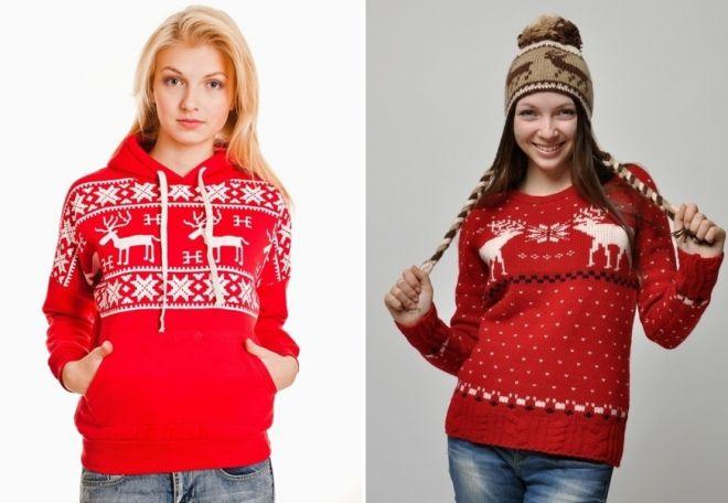 Женский свитер с оленями 8