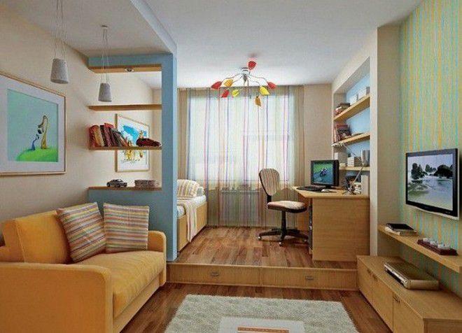 Как обставить однокомнатную квартиру с ребенком функционально 53