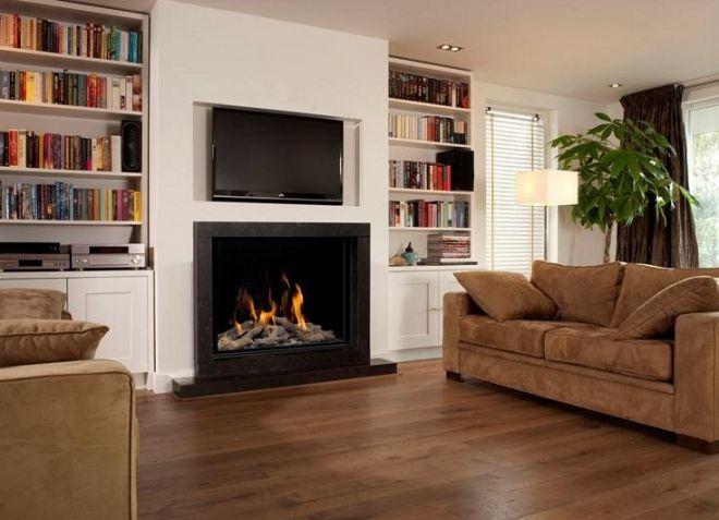Интерьер зала в квартире - освещение, шторы, обои для зала