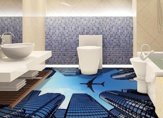 пол в ванной 1
