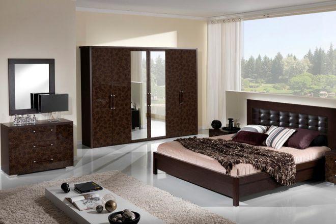 спальня модерн дизайн штор мебели обоев