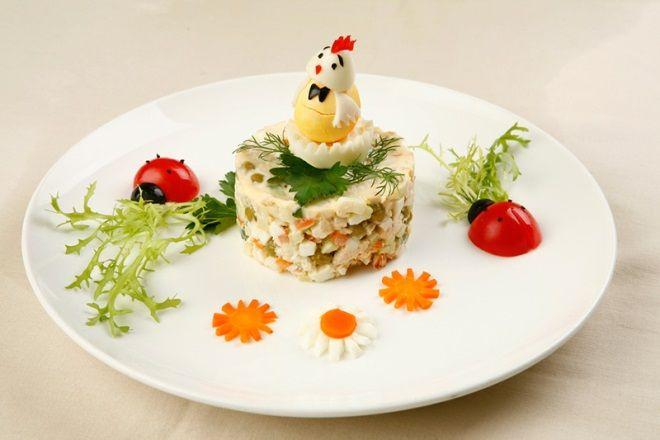 Детский салат оливье