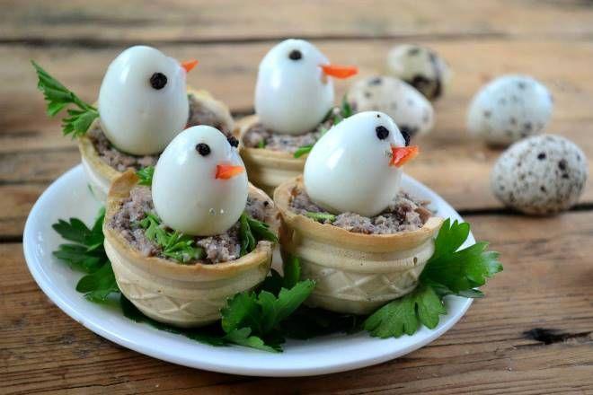Аппетитные тарталетки - цыплята