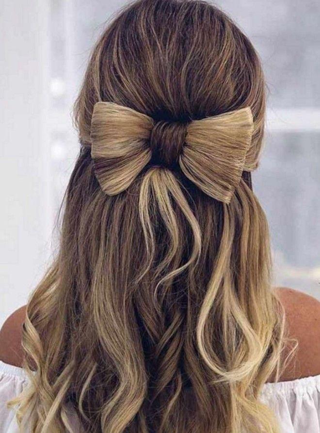 Бант из волос - интересное решение