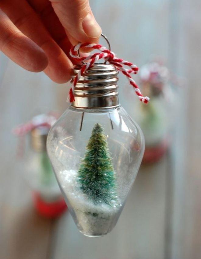 Новогодняя сказка в лампочке