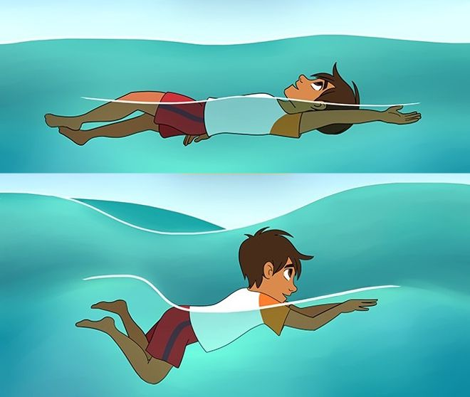 как удержаться на воде
