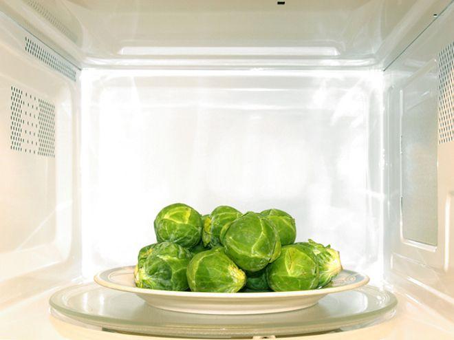 вкусные овощи в микроволновке