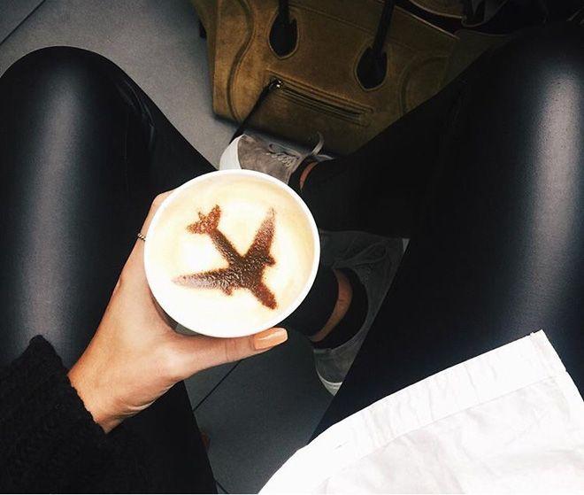 кофе в самолете