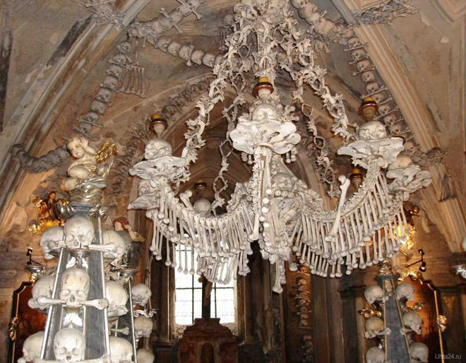 храм из костей чехия