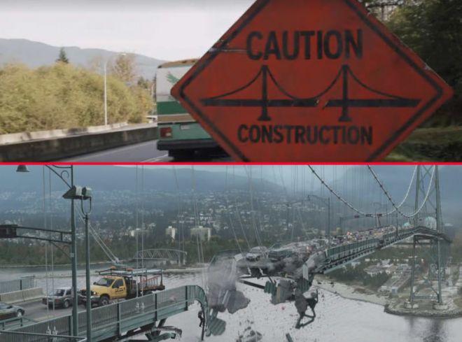 Знак поломанного моста