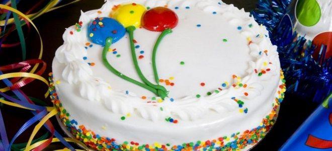 бисквитный торт на день рождения