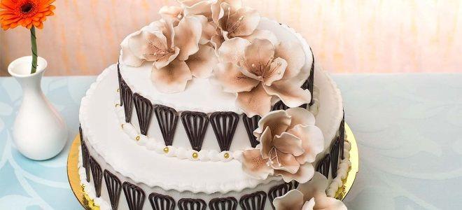 Двухъярусный торт маме