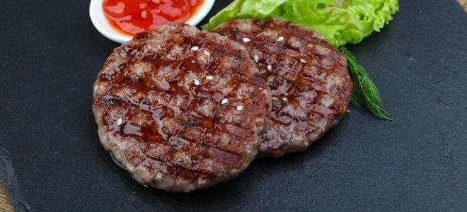 Котлета для бургера - рецепт из фарша говядины