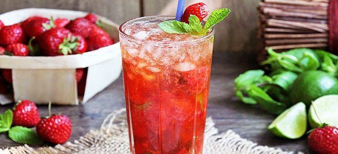 Мохито клубничный - рецепт алкогольный