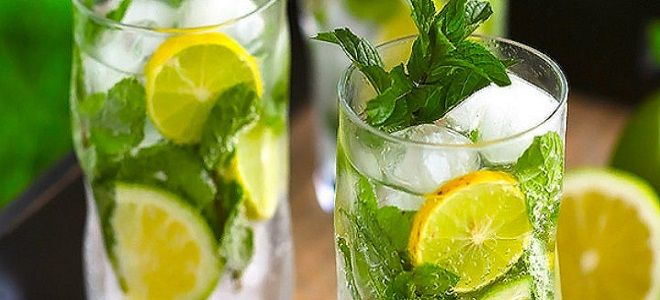 Мохито с лимоном и мятой алкогольный