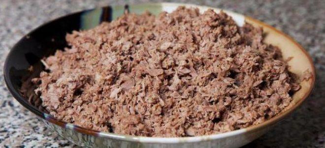 Начинка из вареного мяса для пирожков