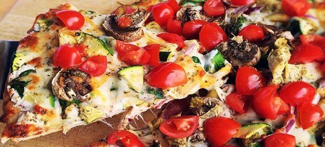 овощная пицца на слоеном тесте