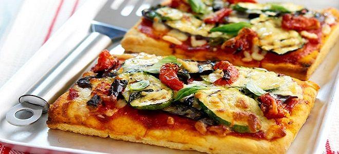 овощная пицца рецепт с кабачками