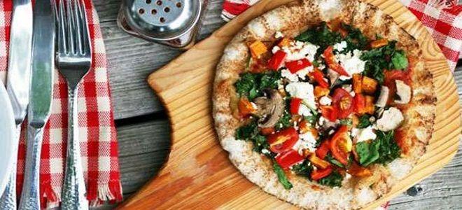 постная пицца на лаваше