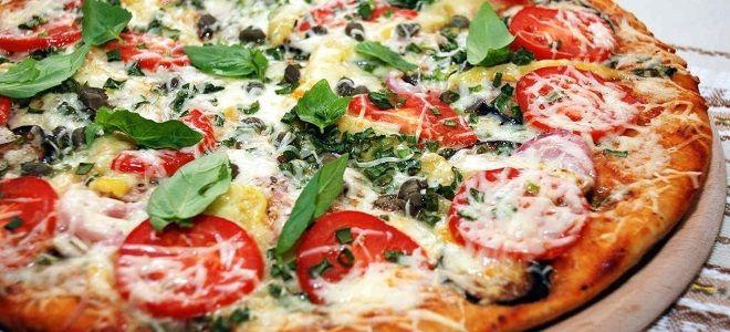 постная пицца в микроволновке