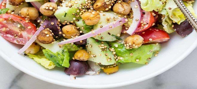 Салат из нута - рецепты просто и вкусно