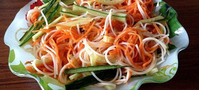 Салат с фунчозой - рецепт с овощами