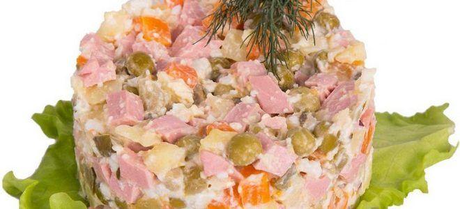 салат с картошкой и колбасой вареной