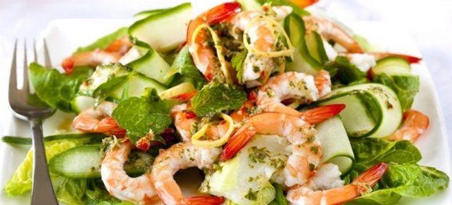 салат с креветками и огурцом рецепт простой