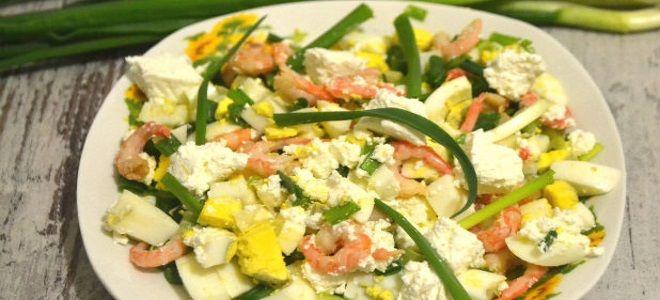 салат с креветками консервированными простой рецепт