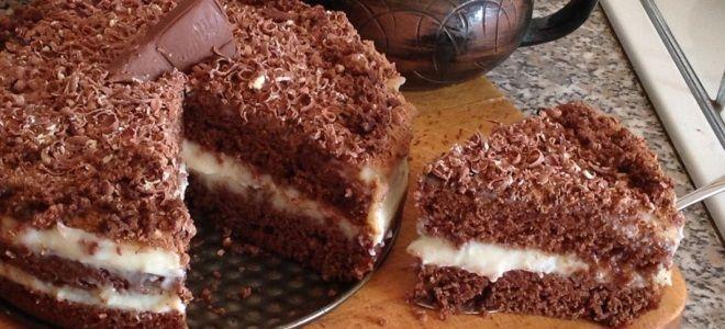 Шоколадный бисквит на горячем молоке