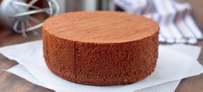 Шоколадный шифоновый бисквит - рецепт