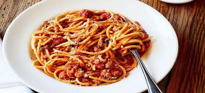 Спагетти Болоньезе - рецепт