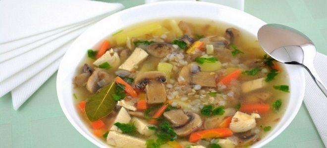суп из консервированных шампиньонов с картофелем рецепт