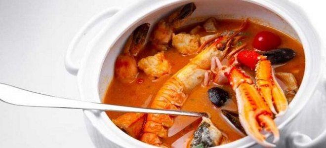 суп из лангустинов рецепт