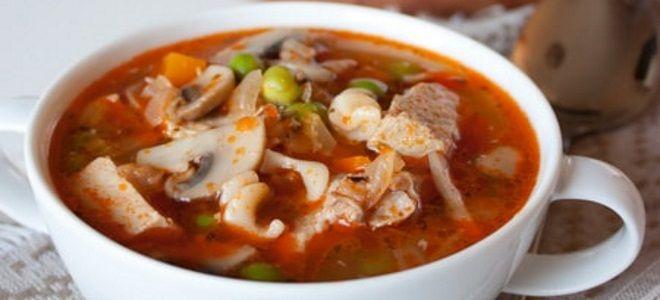 суп из свиной вырезки