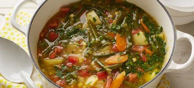 суп из замороженной стручковой фасоли