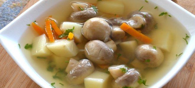 суп с шампиньонами и картофелем