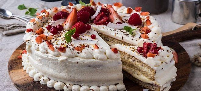 Торт маме кремовый