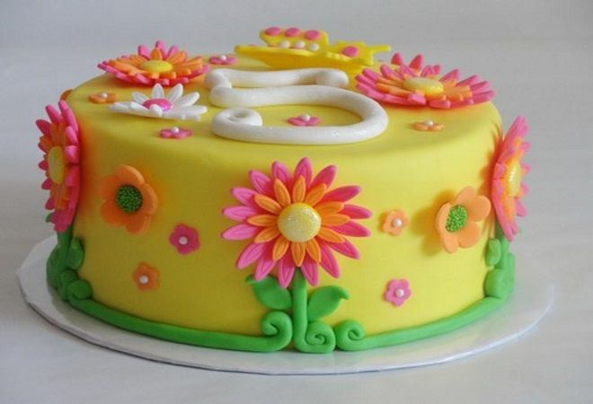 украшение торта на день рождения