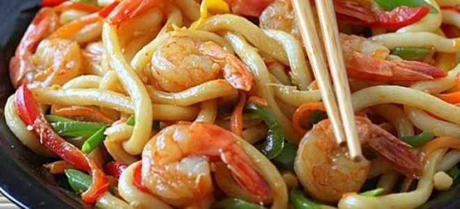 вок с морепродуктами рецепт
