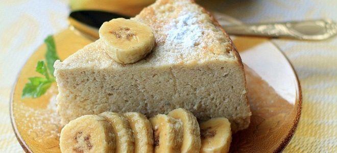 запеканка творожная с бананом и овсянкой